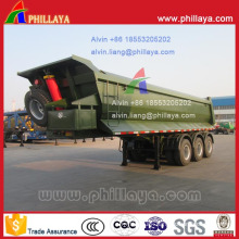 3 Axles U-Shaped Cargo Box Ore Transport End Tipper Trailer