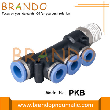 "1/8 ""1/4"" PKB Branch Triple Pneumatic Hose Fittings"