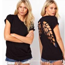 Wholesale Cotton Women Clothing Fitness Ladies Blouse Women′s Tops