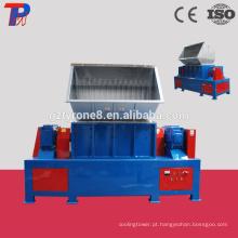 Triturador de plástico de resíduos duráveis com eixo duplo