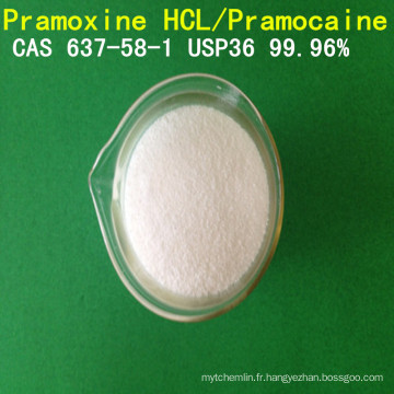 Pramocaïne de grande pureté d'USP / anhydre local de chlorhydrate de pramoxine / pramoxine CAS 637-58-1local