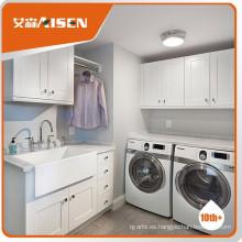 Popular para el mercado blanco gabinete de lavandería