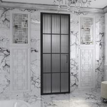 Seawin custom size stain black  tempered safety Glass Shower Pivot Door