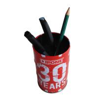 Круглая форма металлическая ручка для карандаша для использования в офисе