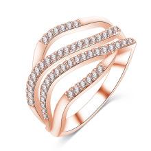 Dernière Conception CZ Bague Diamant Personnalisé Anneau pour les Femmes (CRI1021)