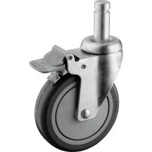 Medium Duty PU Ball Bearing Stem Wheels