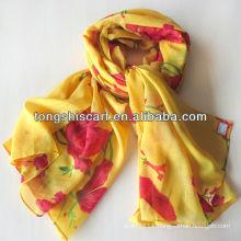 2013 fashion printed girl's winter scarf