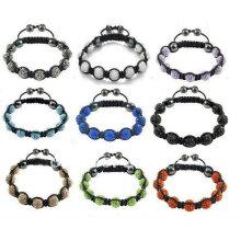 Bracelets Shamballa en couleur mélangée Crystal Balls (9pcs) BR70