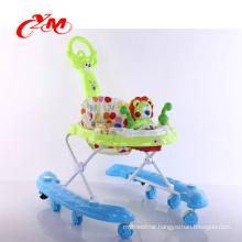 factory sales safe baby walker with safety belt/wheel baby walker/latest design rubber wheel baby walker