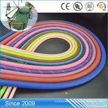 Custom design transparent pvc coated colorful polyester rope for dog leash rope