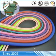 Нестандартная конструкция прозрачный ПВХ покрытием красочные полиэстер веревка для собаки поводок веревку