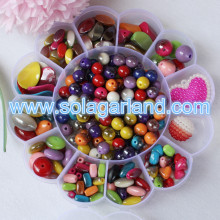15.5 CM Large Round Flower Storage Box Plastic Jewelry Containers Case Home Organizer