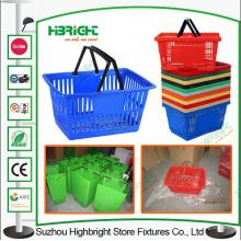 Usine de Chine supermarché coloré plastique panier