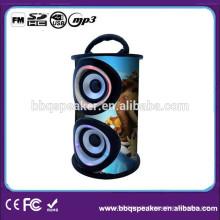 Fabrik direkt aus Holz tragbare Lautsprecher mit USB / SD-Steckplatz FM Radio Digitalanzeige Fernbedienung