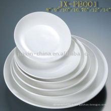 Assiette ronde en porcelaine JXPB-001