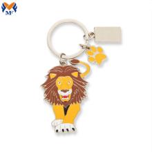 Metal Craft Custom Animal Lion Keychain