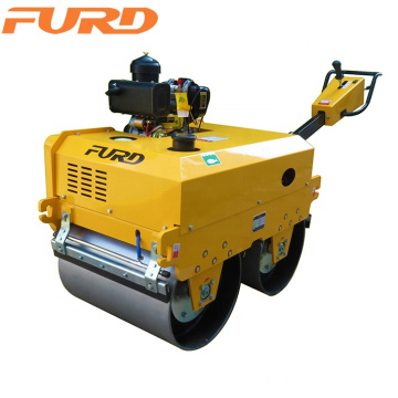 Small 550kg Vibratory Double Drum Roller Compactor For Asphalt Compaction