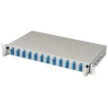 Panel de conexión de fibra de 12 puertos de alto rendimiento