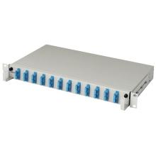 Painel de conexão de fibra de 12 portas de alto desempenho