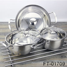 Stainless Steel Induction Saucepan Set (FT-01709)