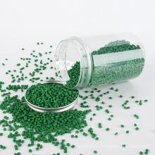 Гранулы вторичного полиэтилена, маточная смесь зеленого цвета