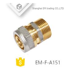 EM-F-A151 Tubo de conexión de aluminio galvanizado latón recto igual