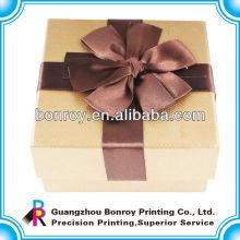 Bonita caja de regalo de cartón de papel para alta calidad