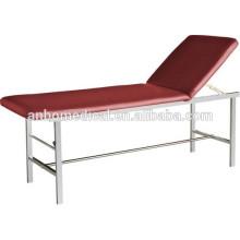 Vierkantrohr SS Untersuchungsbett / Tisch mit weichem Deckel