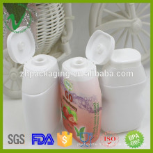 Bouteille en caoutchouc en plastique PEU démaquillable de 40 ml personnalisée avec capuchon rabattable