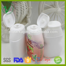 40ml customized HDPE soft squeeze plastic ketchup bottle with flip top cap