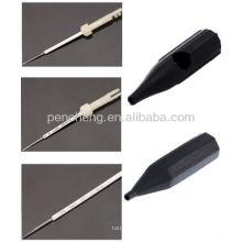 3 agulhas estéreis descartáveis descartáveis e tampa da agulha
