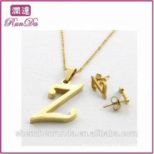Alibaba hottest sale letter fashion jewelry sets