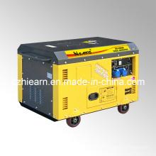 Ensemble de générateur diesel à deux cylindres à refroidissement par air de 10kw (DG15000SE)