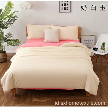 Polyester Brushed 4 Piece Sprei Warna Solid