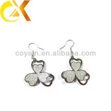 Edelstahl Schmuck Silber Blume baumeln Ohrringe für Frauen