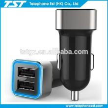 El mejor cargador del coche del USB de 2 puertos para el teléfono / el iphone elegantes