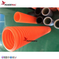 HDPE PP PVC Double wall corrugated pipe line