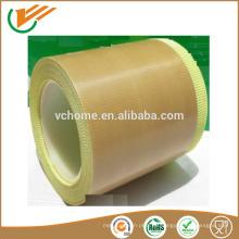 Adhesivo de silicona Cinta simple de fibra de vidrio con ptfe con certificaciones ISO SGS con adhesivo fuerte