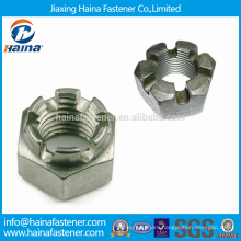 DIN935 Stock Stainless Steel Slotted Nuts with Fine Pitch Thread