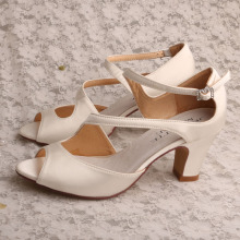 Block Heel Shoes Women for Summer Raso bianco sporco