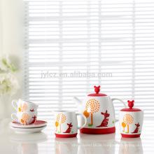 Einzigartiges Design Tee-Set Porzellan modern