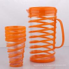 Kunststoff Wasserkühler / Krug mit Cups (LFR2477)