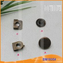 Crochet de pantalon avec fermeture à glissière en métal BM1035