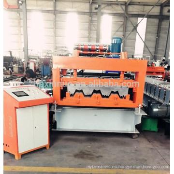 hebei xinnuo 915 cubierta del piso hoja de techado rodillo que forma la máquina