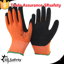 SRSAFETY 13gauge knited nylon liner coated latex on palm gloves, foam latex safety working gloves.
