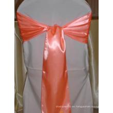 Sillas de boda Decoración Color Satin Sash