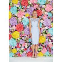 Wholesale Good Quality Cheap knee length Lace formal Short Mermaid Beach Bridesmaid Dresses LBS01