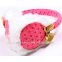 Menina frend earcap plush orelha cobrir earmuff rosa