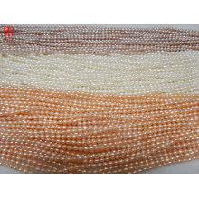 Cordas de pé de água doce de arroz de 3 graus AA4 de 3-4mm