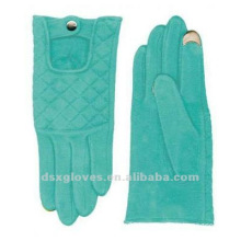 green wool blend touchscreen gloves